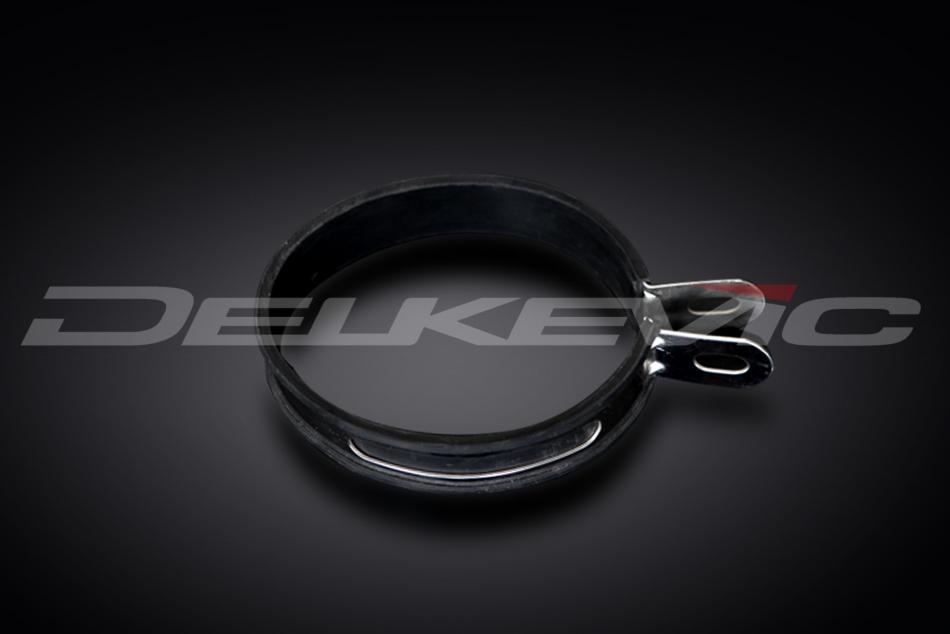 Delkevic Delkevic stainless steel oval silencer strap with heat resistant rubber