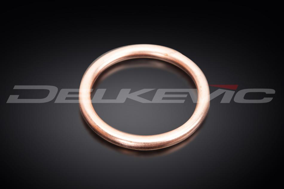Delkevic Motorcycle Copper Silencer Gasket 49mm